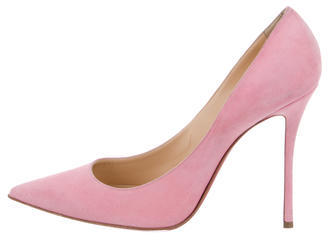 Christian Louboutin  Christian Louboutin Suede Pointed-Toe Pumps