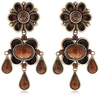 Etro Clip On Flower Earrings