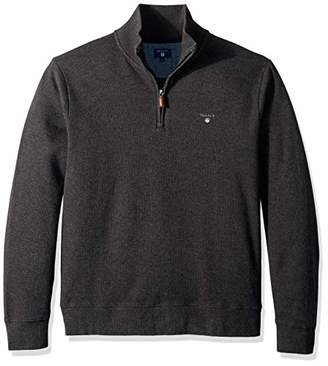Gant Men's The Sacker Ribbed Half Zip Sweater