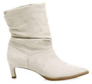 Aquatalia Maddy Point Toe Suede Mid-Calf Boots