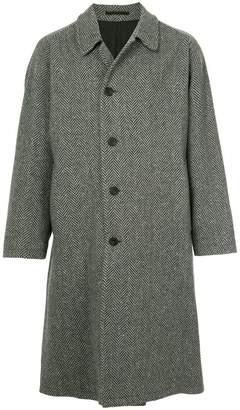 E. Tautz herringbone single-breasted coat