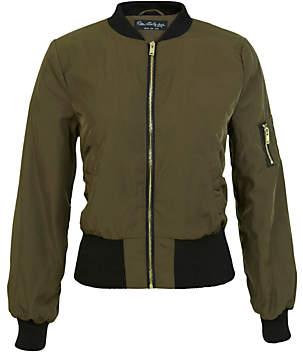 Miss Selfridge Bomber Jacket, Khaki