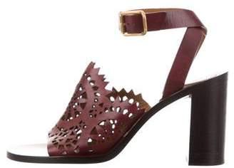 Chloé Leather Lasercut Sandals
