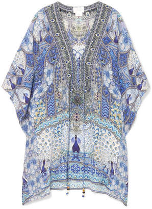 Camilla Wings To Fly Silk Crepe De Chine Kaftan - Blue