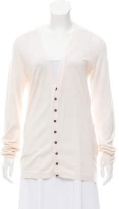 Balenciaga Silk & Cashmere Cardigan