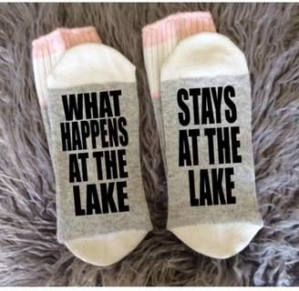 Local Artist Stays-At-The-Lake Socks