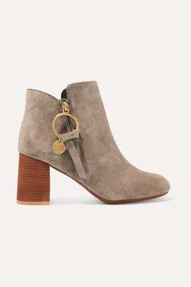 See by Chloe Suede Ankle Boots - Taupe