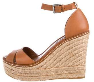 Ralph Lauren Leather Platform Espadrilles