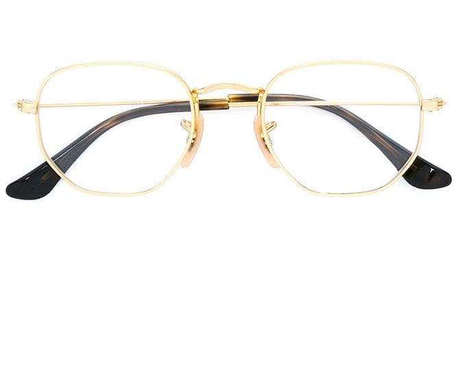 Ray Ban Junior hexagonal shaped glasses