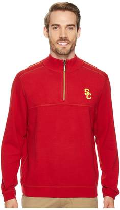 Tommy Bahama USC Trojans Collegiate Campus Flip Sweater Men's Clothing