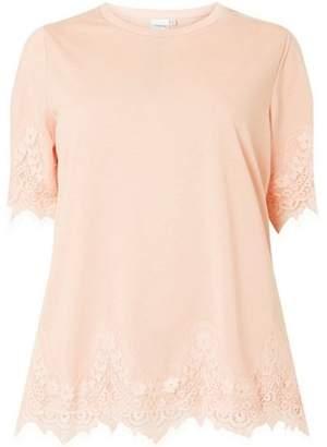 Junarose Womens **Juna Rose Curve Blush Lace T-Shirt