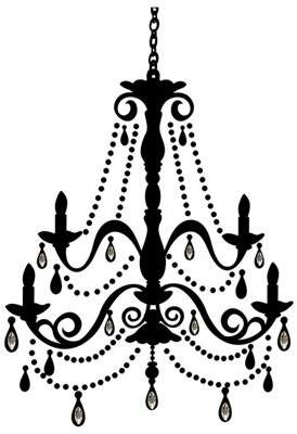 Roommates Chandelier Wall Stickers With Gems