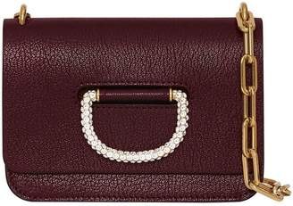 Burberry The Mini Leather Crystal D-ring Bag