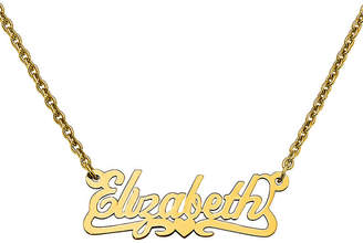 FINE JEWELRY Personalized 12x35mm Heart Scroll Name Necklace