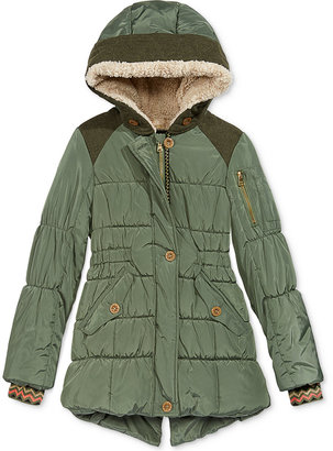 Jessica Simpson Expedition Coat with Faux-Fur Trim, Big Girls (7-16) $130 thestylecure.com
