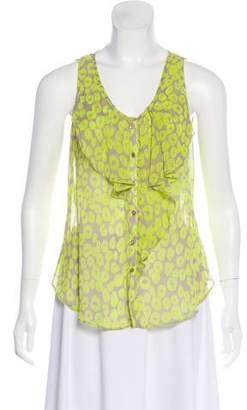 Yoana Baraschi Sleeveless Button-Up Top