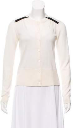 Prada Bow-Accented Knit Cardigan