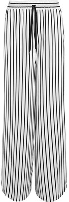 McQ Alexander McQueen - Japan Striped Twill Wide-leg Pants - White $550 thestylecure.com