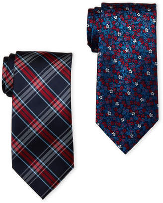 U.S. Polo Assn. Two-Pack Plaid & Floral Printed Ties