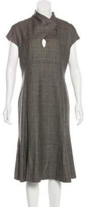 Luciano Barbera Wool Midi Dress