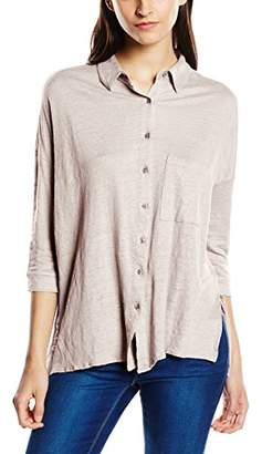 Columbia Blaumax Women's 19567002 Loose Fit Button Front Long Sleeve Blouse - White - UK