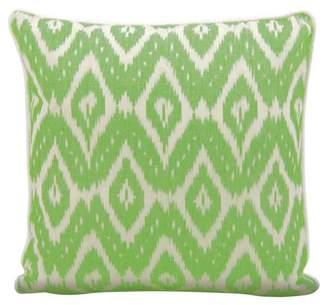 Nourison Life Styles Ikat Green Throw Pillow