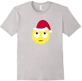 Christmas Edition Funny Eye Roll Emoji T-Shirt