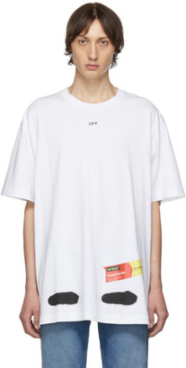 Off-White SSENSE Exclusive White Incomplete Spray Paint T-Shirt