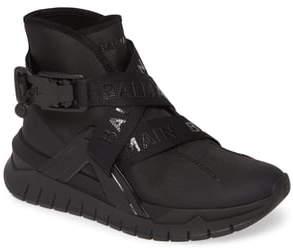 Balmain Troop Logo Strap High Top Sneaker