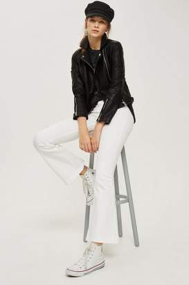Topshop MOTO White Flared Jamie Jeans