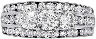 JCPenney FINE JEWELRY LIMITED QUANTITIES 2 CT. T.W. Diamond 14K White Gold Three-Stone Engagement Ring