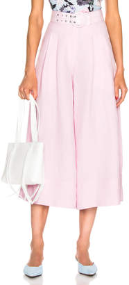 Nicholas Belted Wide Leg Pant in Light Pink | FWRD