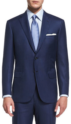 Brioni Colosseo Tic Two-Piece Wool Suit, Navy $5,895 thestylecure.com
