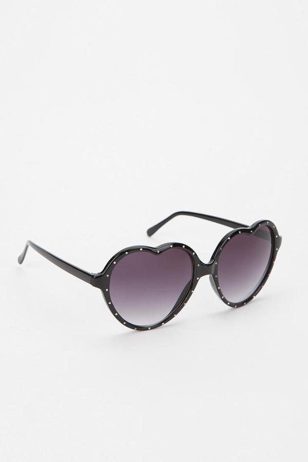 Urban Outfitters Bling Is In Our Hearts Sunglasses