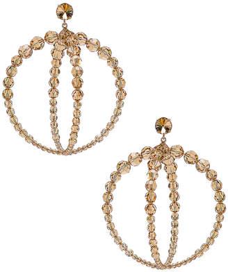 Jacquemus Cristalli Earrings in Beige   FWRD