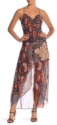 BCBGeneration Printed Hi-Lo Hem Dress