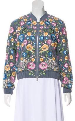 Needle & Thread Embroidered Bomber Jacket