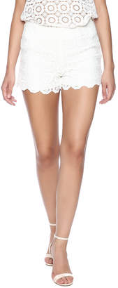 Eight Sixty White Eyelet Shorts