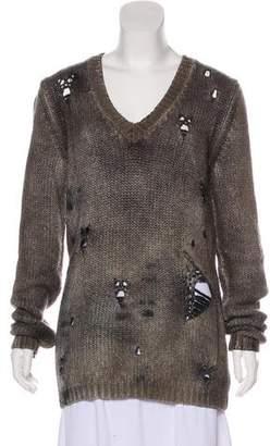 Avant Toi Cashmere Distressed Sweater