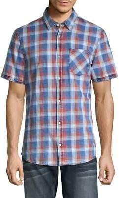 Buffalo David Bitton Checkered Short Sleeve Button Front Shirt