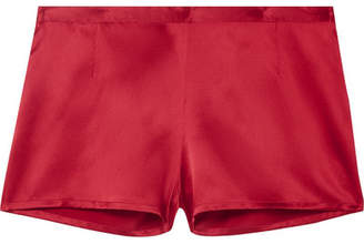 La Perla Carmine Silk-satin Pajama Shorts - Red
