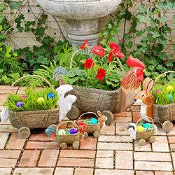Wheeled Animal Baskets - Medium Lamb