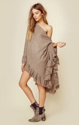 Minnie rose cashmere romantic ruffle ruana $352 thestylecure.com