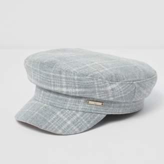 River Island Girls grey check captain's hat