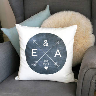 Modo creative Personalised Wedding Crossed Arrow Cushion