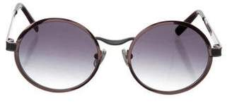 Morgenthal Frederics Tinted Round Sunglasses