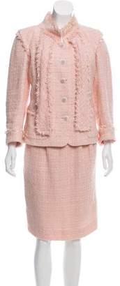 Chanel Silk Tweed Skirt Suit