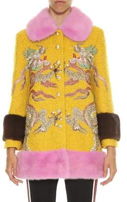 Gucci Women's Yellow Wool Coat.