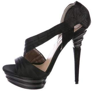 Halston H by Satin Platform Sandals