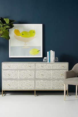 Anthropologie Scroll Vine Inlay Six-Drawer Dresser